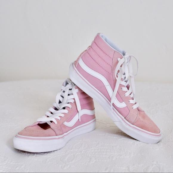 739f4d60693b Pink Suede Vans - Sk8-Hi Slim Hi Top Sneaker. M 5a680c462ae12f1776cfa739